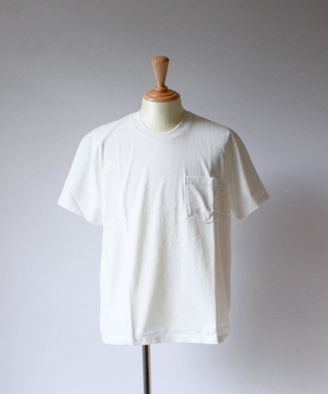 CURLY HELICAL POCKET SS TEE white