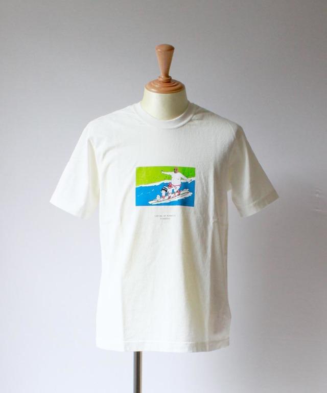 BRU NA BOINNE サーフィンの思い出T white