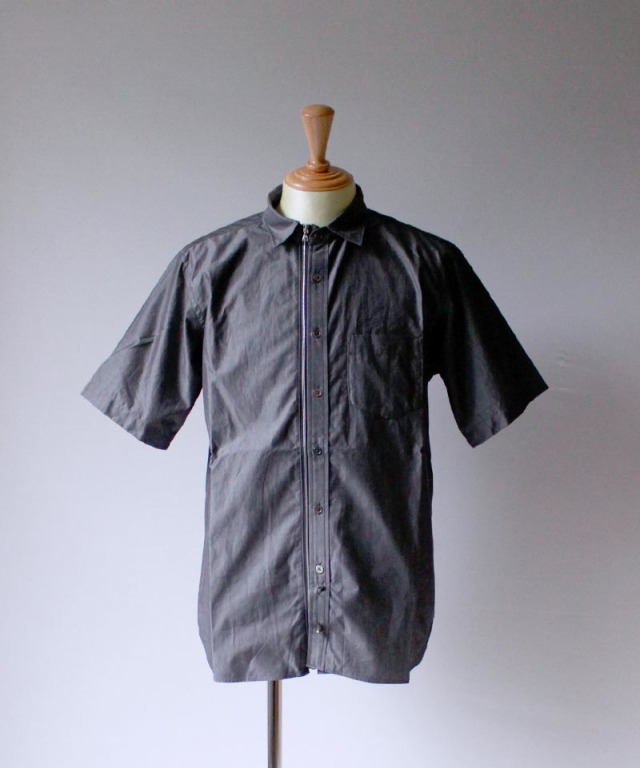 Beautilities UTILITY ZIP SHIRT SHORT SLEEVE d.gray
