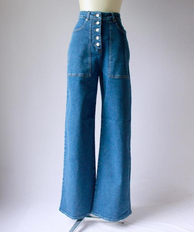 AALTO JEAN DENIM BAGGY 80s blue