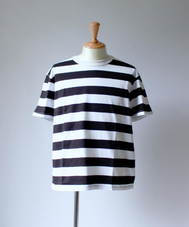 CURLY ADVANCE SS BORDER TEE white/black