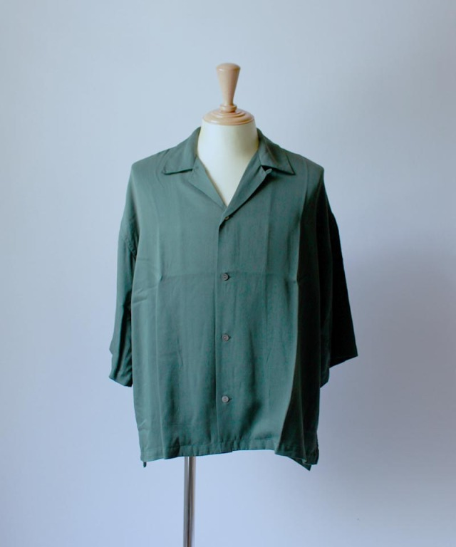 bukht OPEN COLLAR SHIRTS d.green