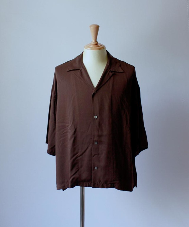 bukht OPEN COLLAR SHIRTS brown