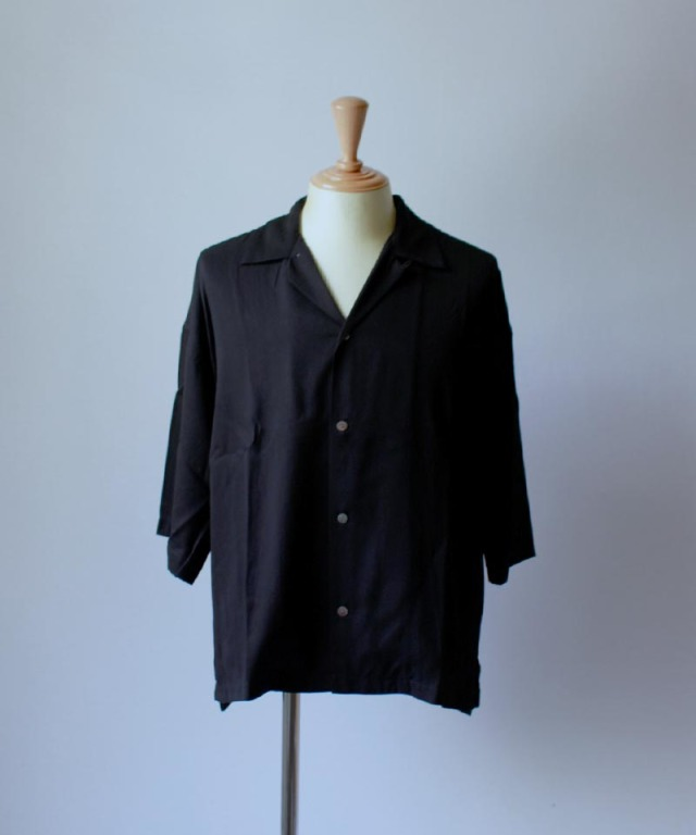bukht OPEN COLLAR SHIRTS black