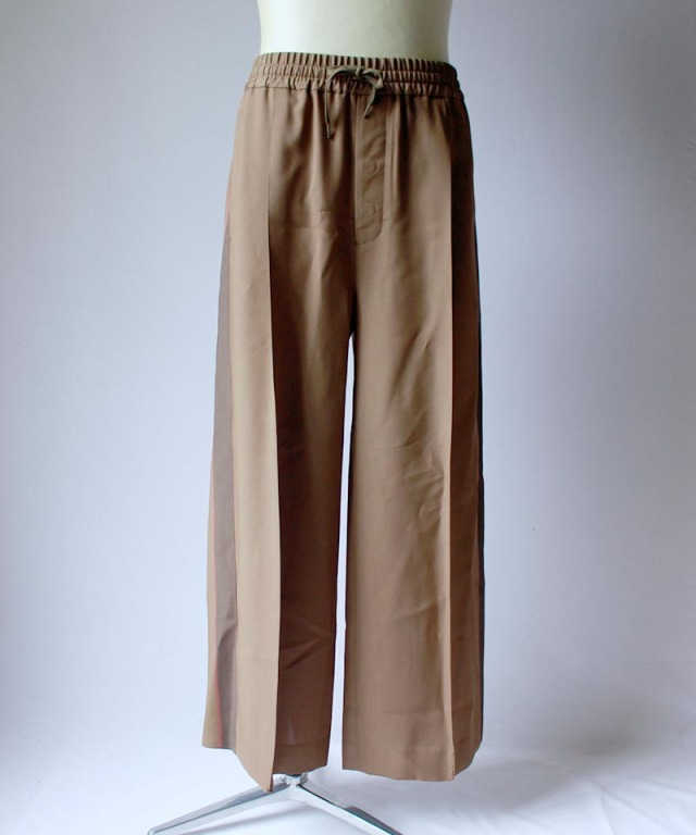 beautiful people VISCOSE GABARDINE LINE WIDE PANTS khaki