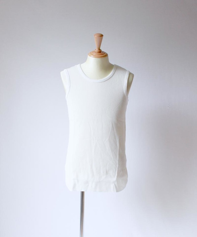 CURLY LATTICE TANK WHITE - Mens