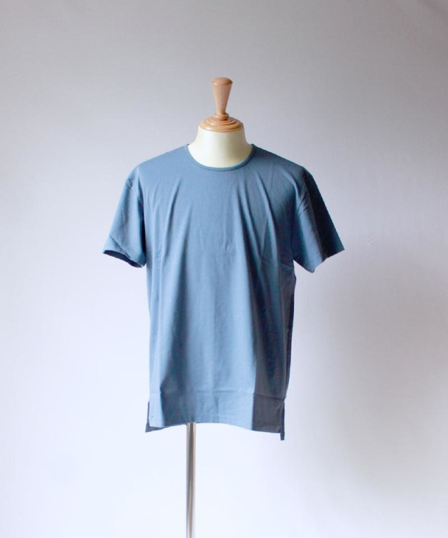 CURLY CCR SS CN TEE BLUE GRAY