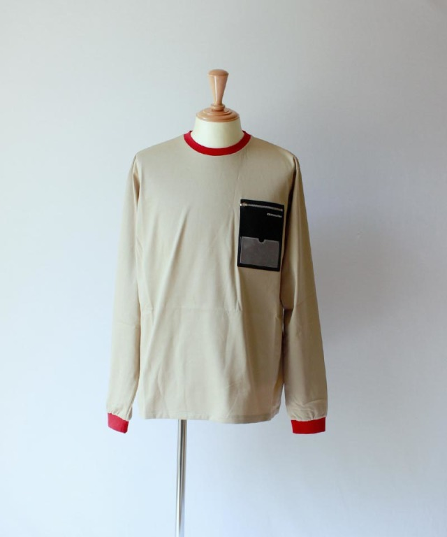 PORTVEL ID POCKET L/S TEE Beige