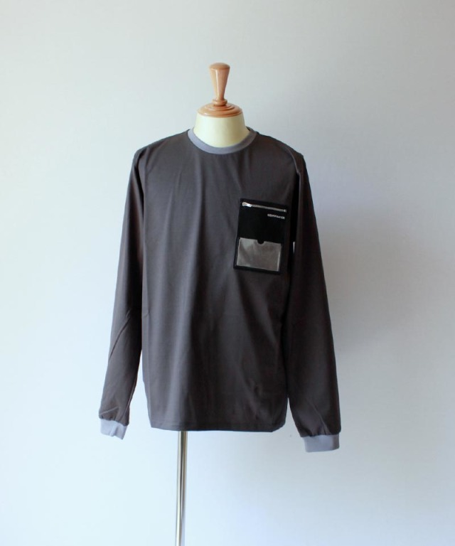 PORTVEL ID POCKET L/S TEE Charcoal