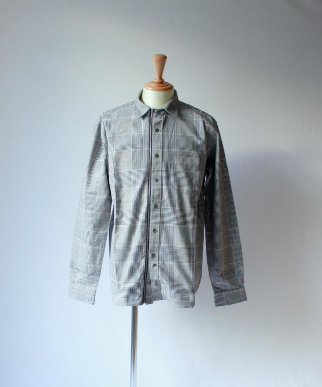 Beautilities Utility Zip Shirt Glay Glen Check