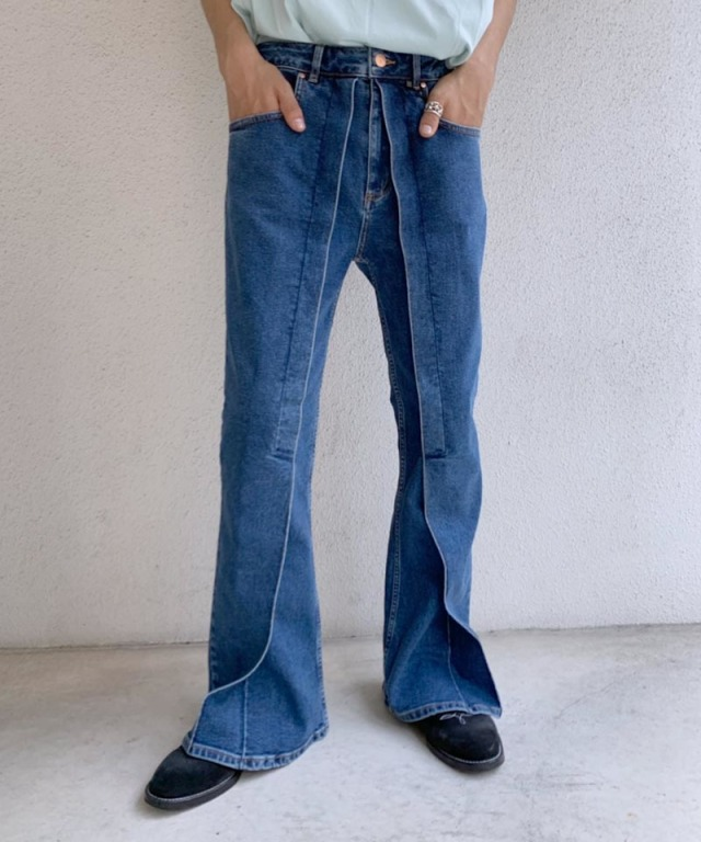 AALTO DENIM FPARED CROPPED 80S BLUE