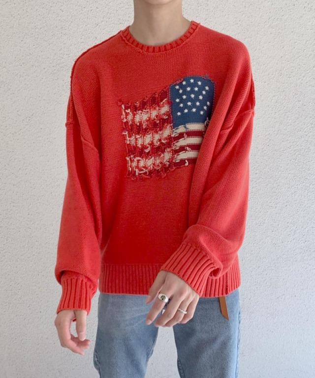 DAIRIKU Inside Out America Knit ORG