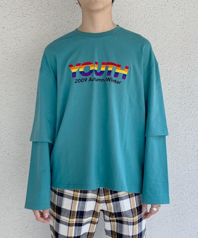 DAIRIKU exclusive YOUTH LAYERED T-SHIRTS GRN