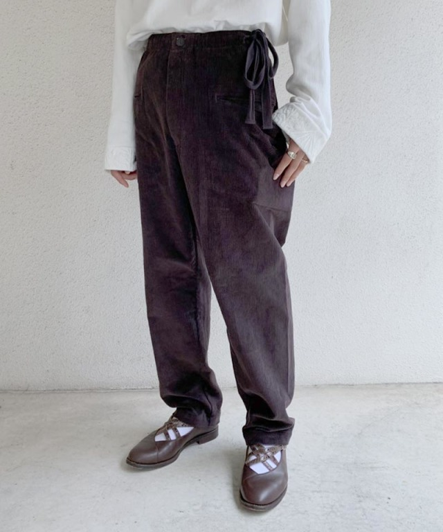 EASY TO WEAR CORDUROY PANT AFRICAN BROWN