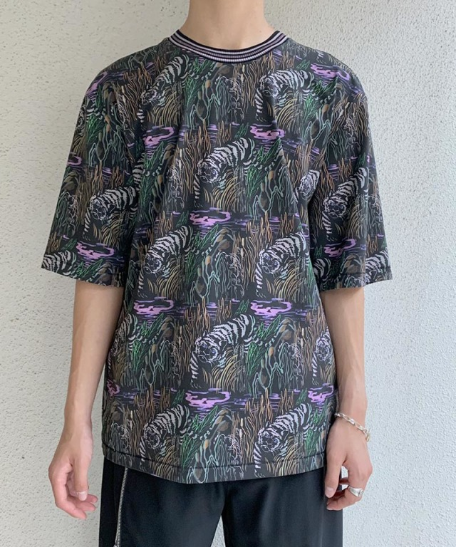 3.1 Phillip Lim SS PRINTED OVERSIZED black