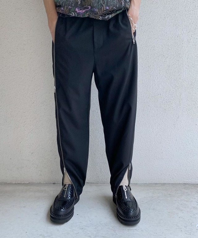 3.1 Phillip Lim OFFSET ZIPPER TRACK PANTS black