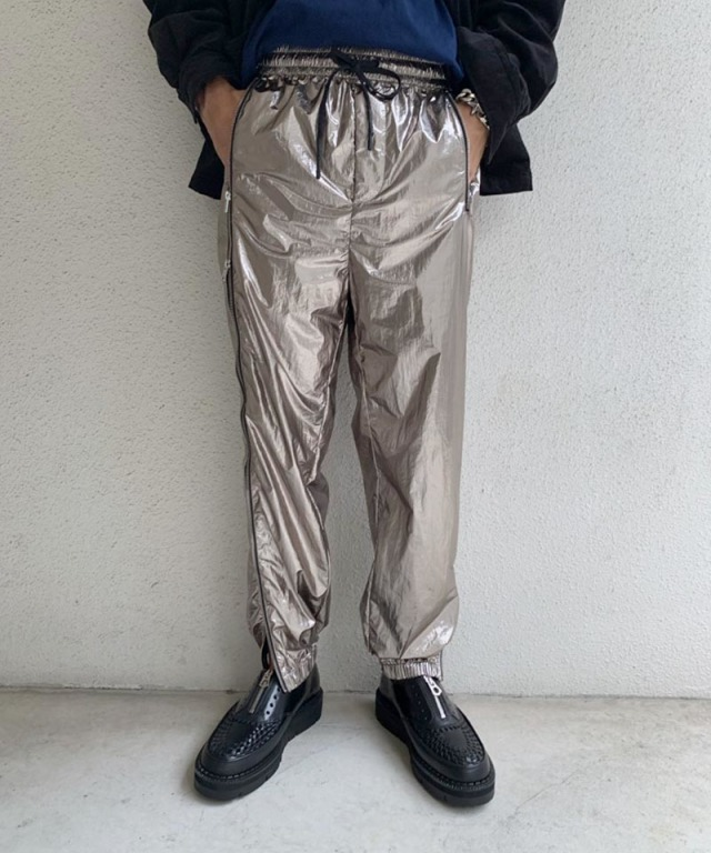 3.1 Phillip Lim OFFSET ZIPPER TRACK PANTS silver