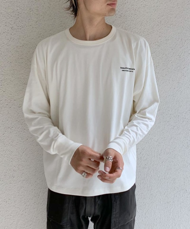 beautiful people suvin pima jersey long Tshirt off white
