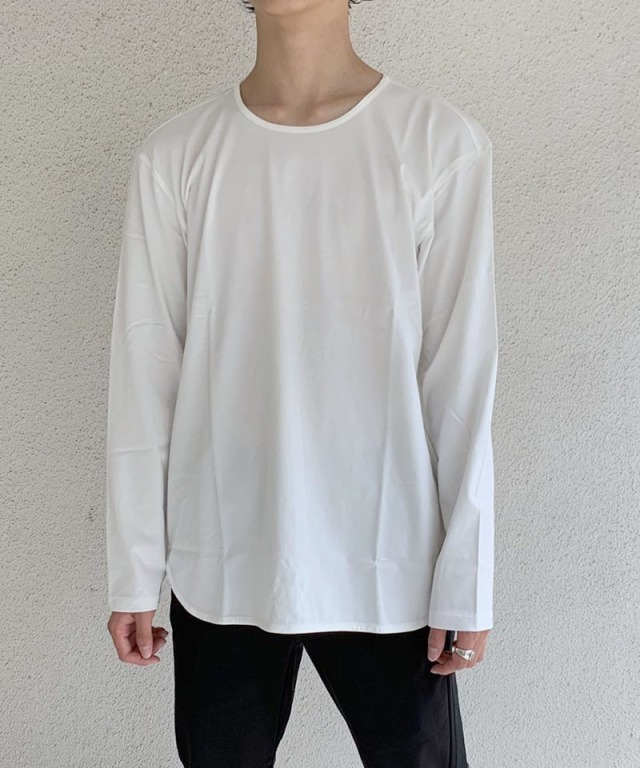 CURLY CCR LS CN TEE WHITE