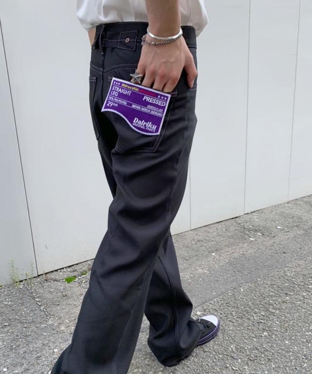 DAIRIKU exclusive IREGULAR PRESSED PANTS BLK