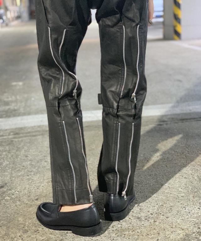 PHINGERIN exclusive BONTAGE PANTS LEATHER BLACK