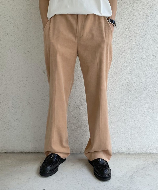 beautiful people corduroy high waist pants beige