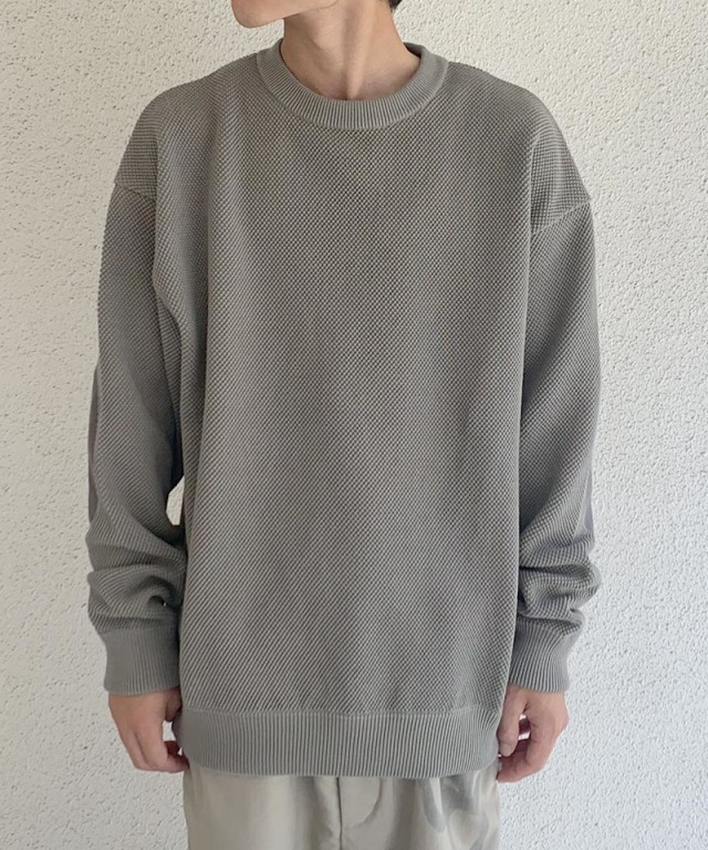 crepuscule moss stich L/S sweat L.Gray