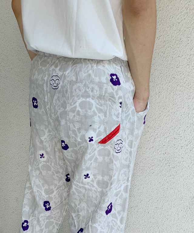 PHINGERIN NIGHT PANTS GAUZE PANSY A:ライトグレー
