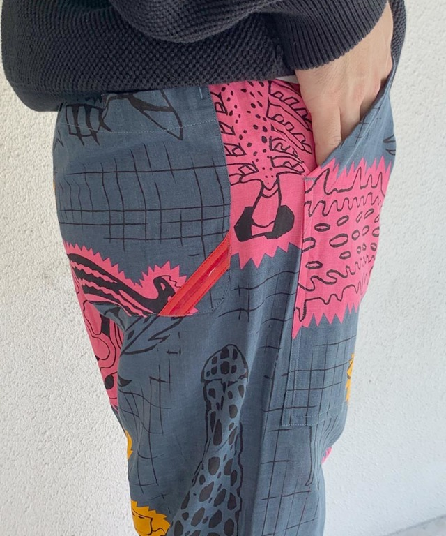 PHINGERIN NIGHT PANTS GAUZE TENTACLE A:ディープネイビー