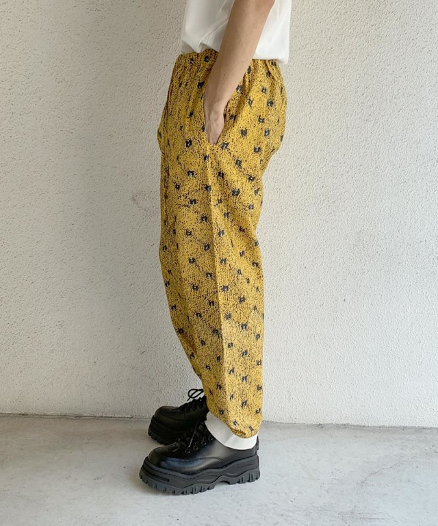 PHINGERIN NIGHT PANTS NEL FLOOR A:イエロー