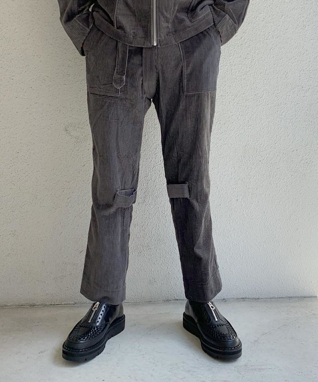 PHINGERIN BONTAGE PANTS SOFT-CORD A:チャコール