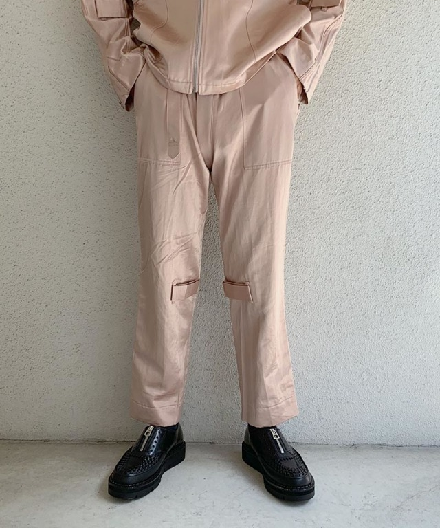 PHINGERIN BONTAGE PANTS SATIN A:ピンク