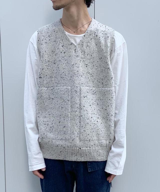 crepuscule wholegarment knit vest L.Gray
