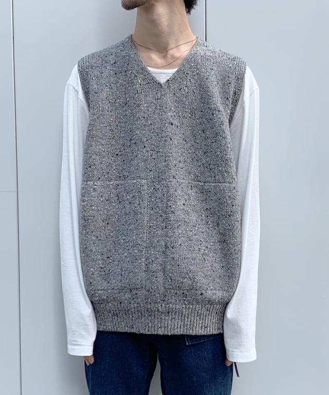 crepuscule wholegarment knit vest Gray
