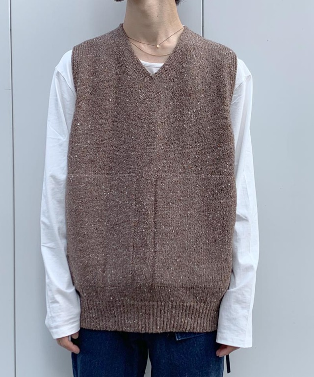 crepuscule wholegarment knit vest Brown