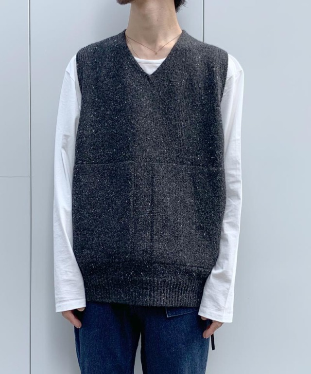 crepuscule wholegarment knit vest Black