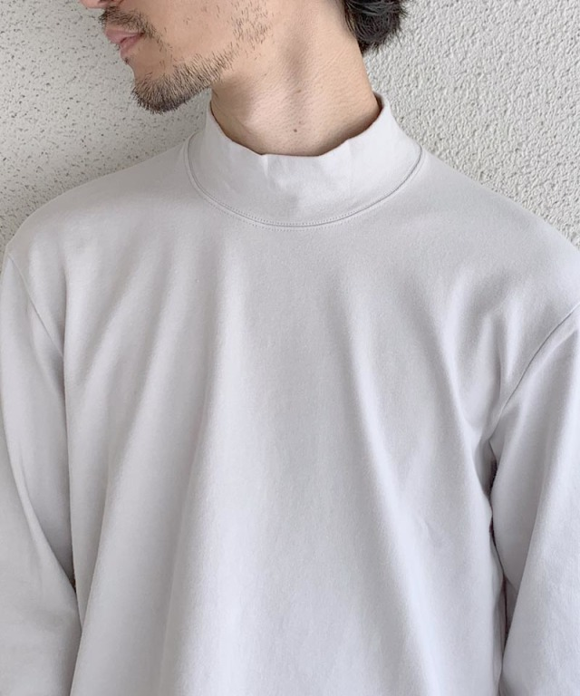 CURLY STATIC LS MOCK NECK LT.GRAY