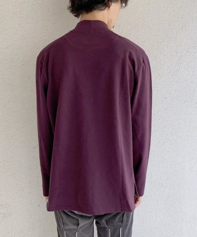 CURLY STATIC LS MOCK NECK BURGUNDY