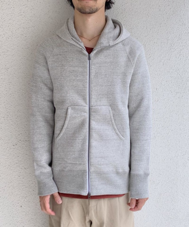 CURLY RAFFY ZIP PARKA GRAY