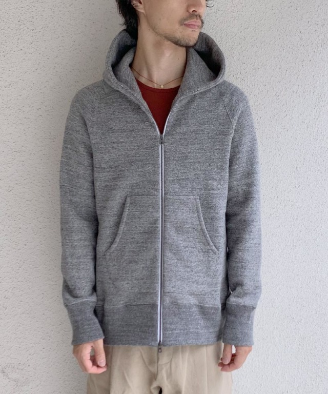 CURLY RAFFY ZIP PARKA CHARCOAL