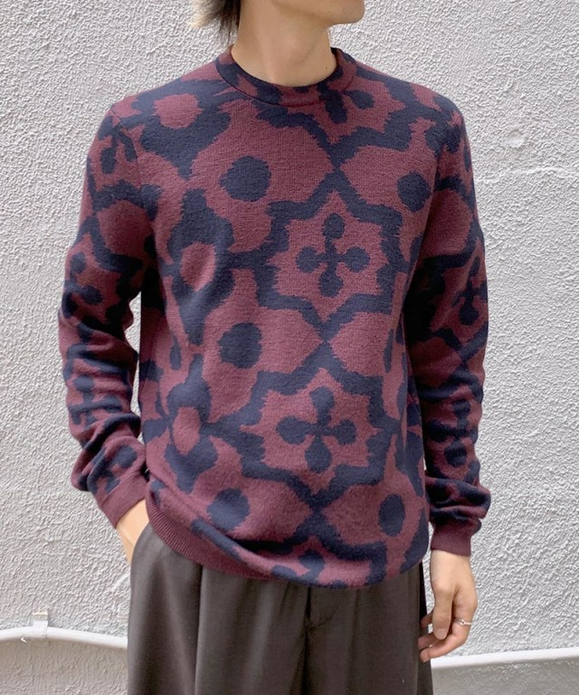 Christian Wijnants KADY KNIT BORDEAUX/NAVY IKAT