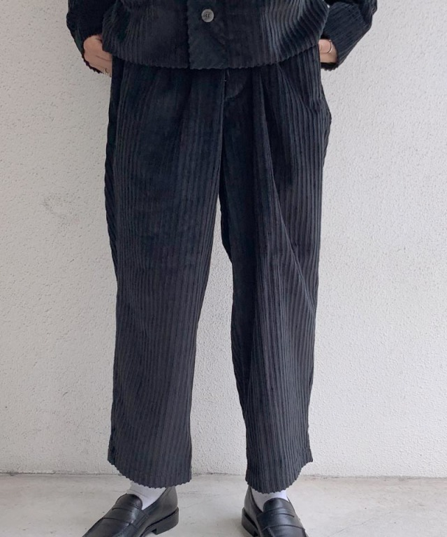 POLYPLOID WIDE PANTS C BLACK
