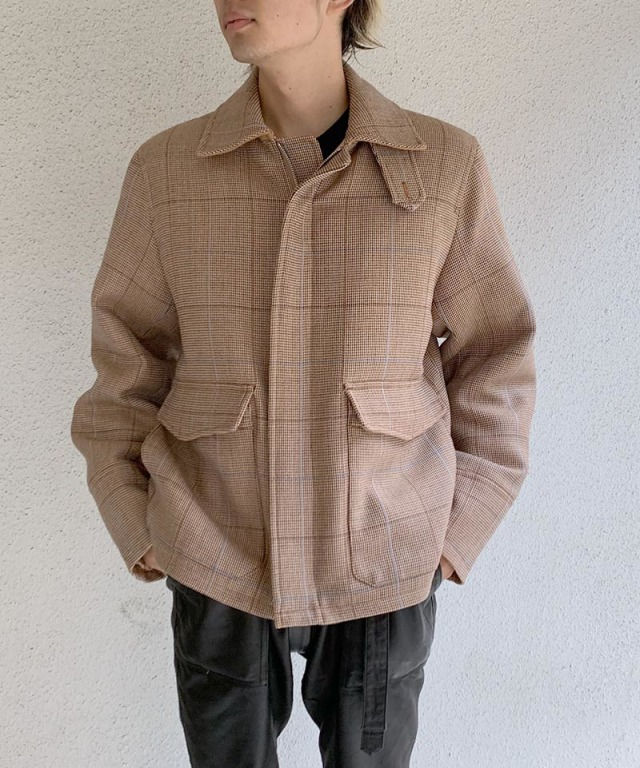 beautiful people corriedale check flight blouson beige