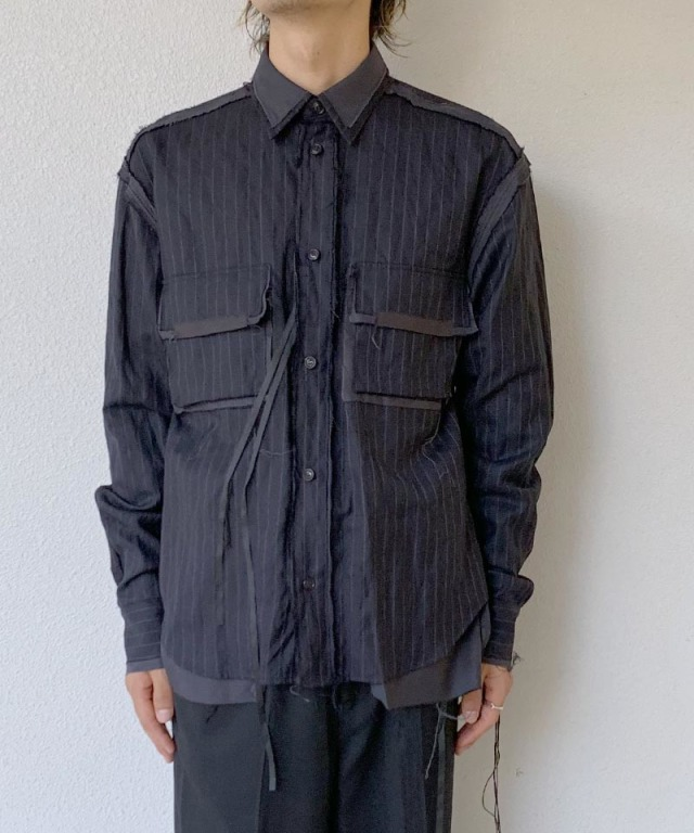 Midorikawa NAVY STRIPE WORK SHIRTS NAVY STRIPE