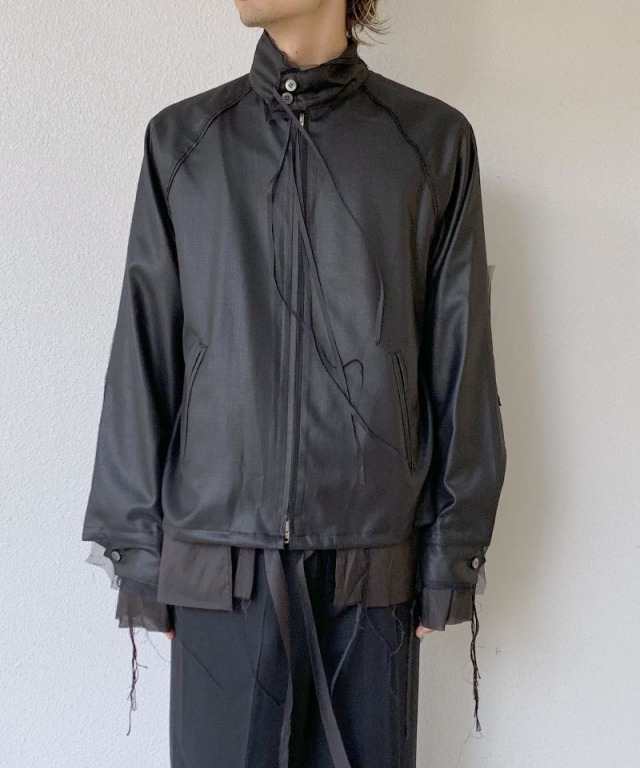 Midorikawa ZIP UP BOULSON BLACK
