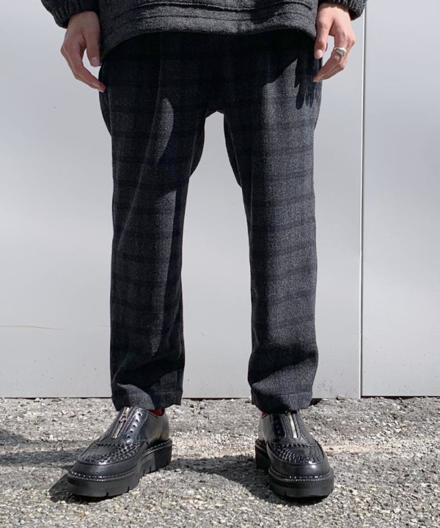 exclusive HEALTH EASY PANTS #2 BLACK CHECK