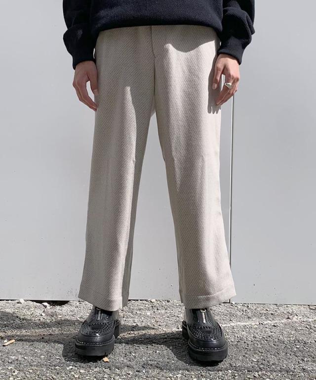 exclusive HEALTH EASY PANTS #3 WHITE BEIGE