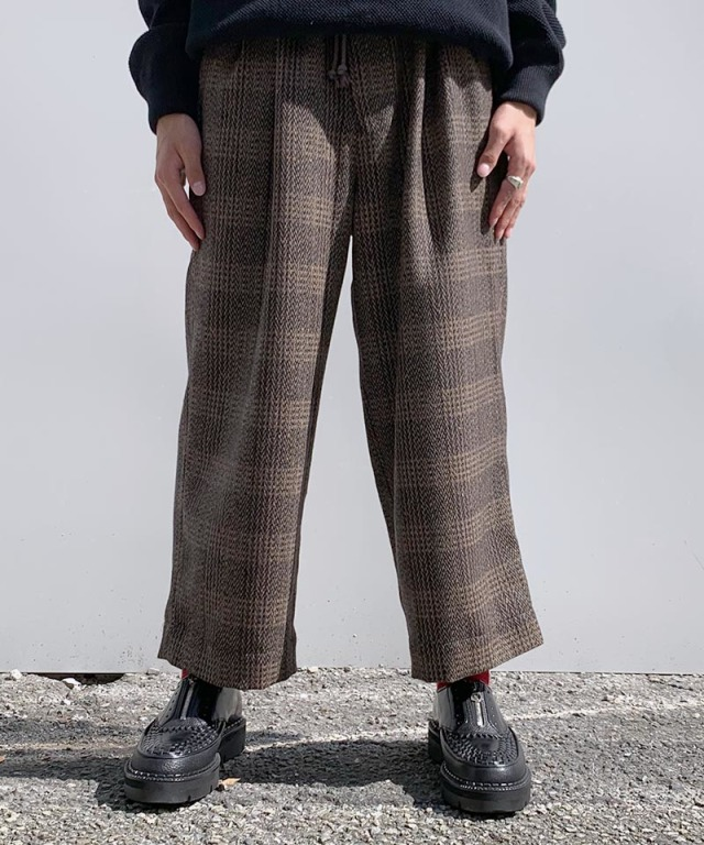 exclusive HEALTH EASY PANTS #4 BROWN CHECK