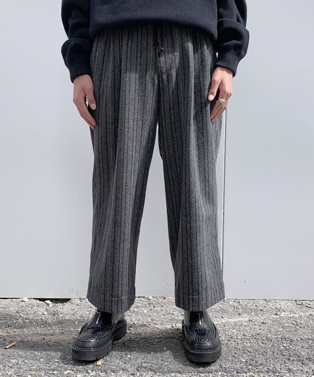 exclusive HEALTH EASY PANTS #4 GRAY STRIPE