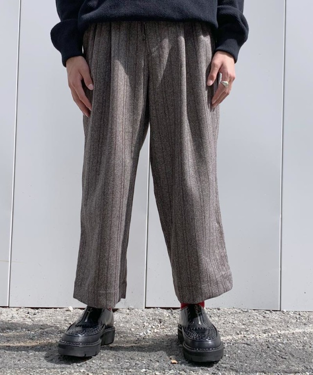 HEALTH EASY PANTS #4 CHARCOAL GRAY??BLK STRIPE